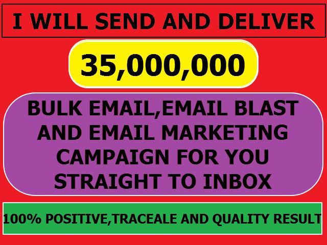 Send 35million Bulk Email Email Blast Email Template Marketing