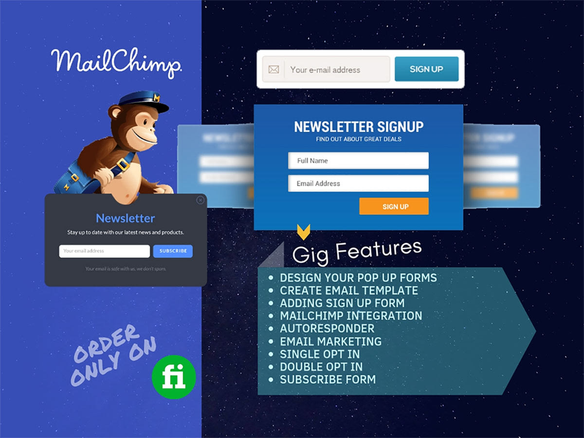 Design Email Template Mailchimp Form Setup Email Campaign By Raihan Arju