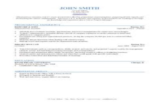 Help Build Your Professional Resume