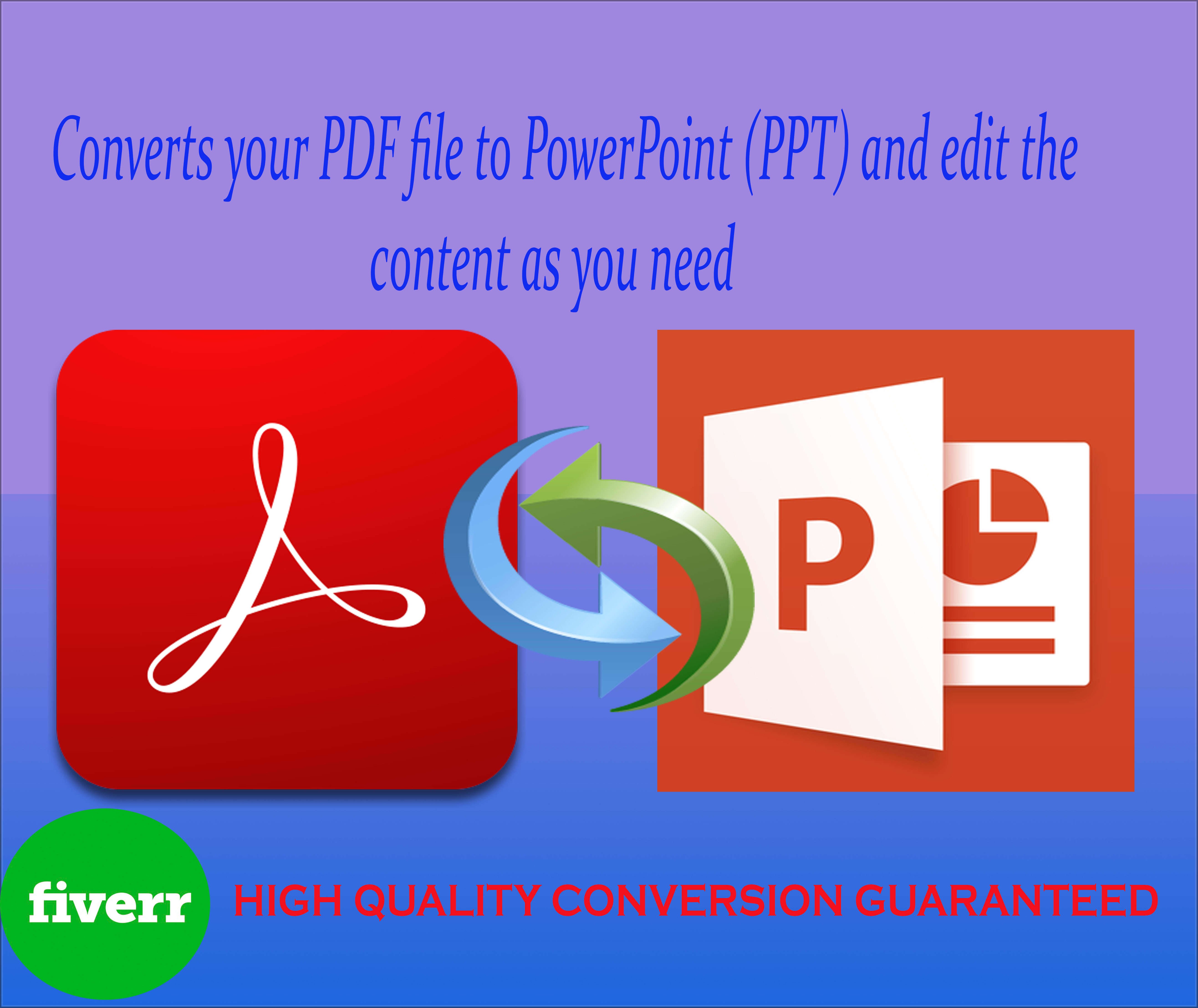 convert PDF to powerpoint and edit professionally