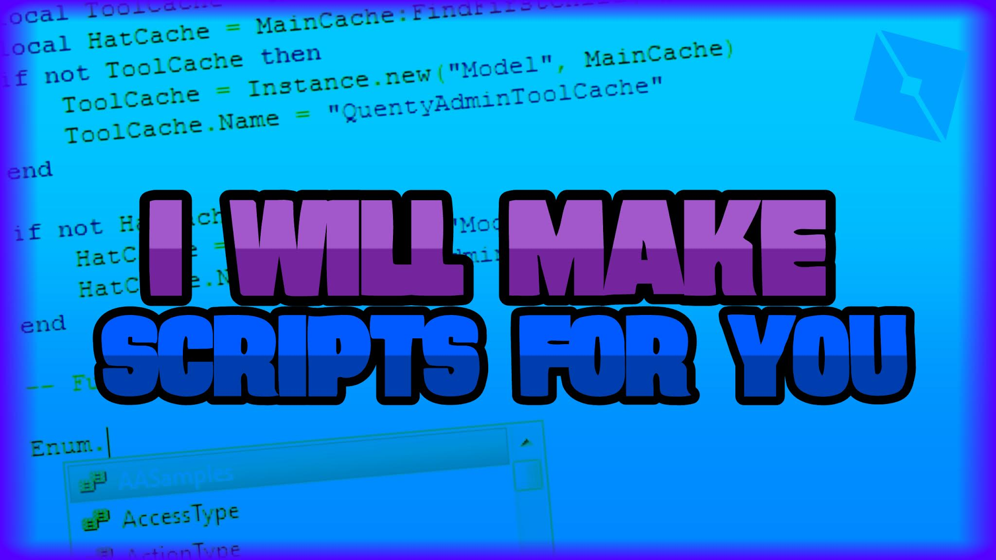 Make Roblox Script For You By Yourclomix