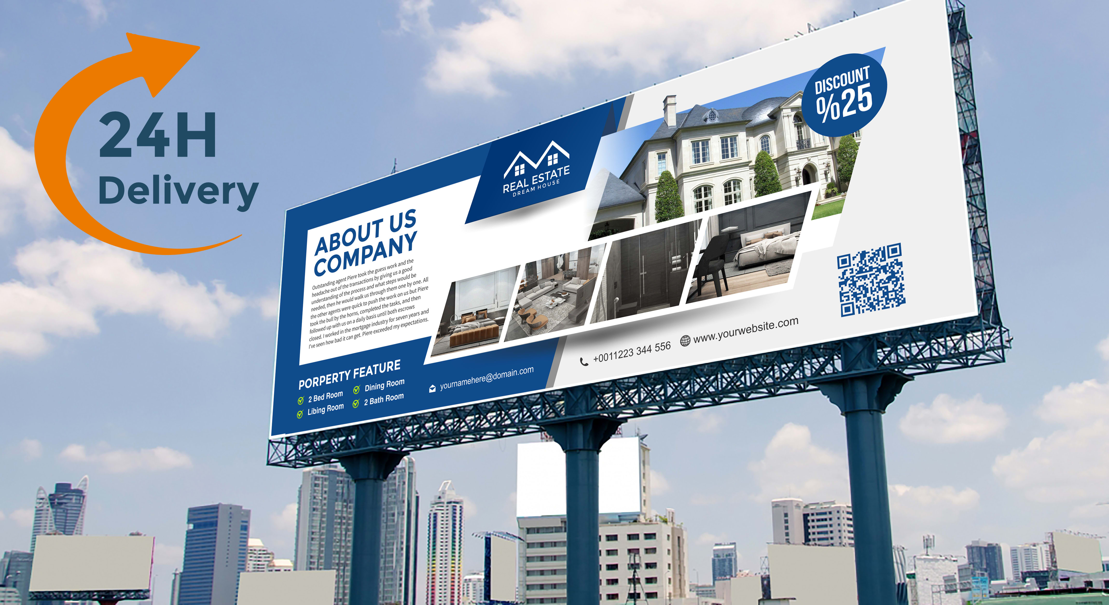 Real Estate Design Billboard Ad Web Banner And Yard Sign By Erwand
