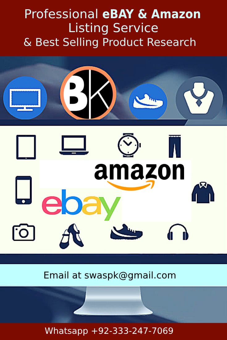 Increase Your Sale On Ebay And Amazon With List Best Selling Products By Swaspk