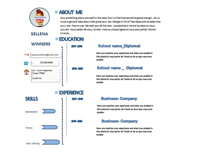 rfachat : I will send you a professional cv, resume microsoft word template  for $5 on www.fiverr.com