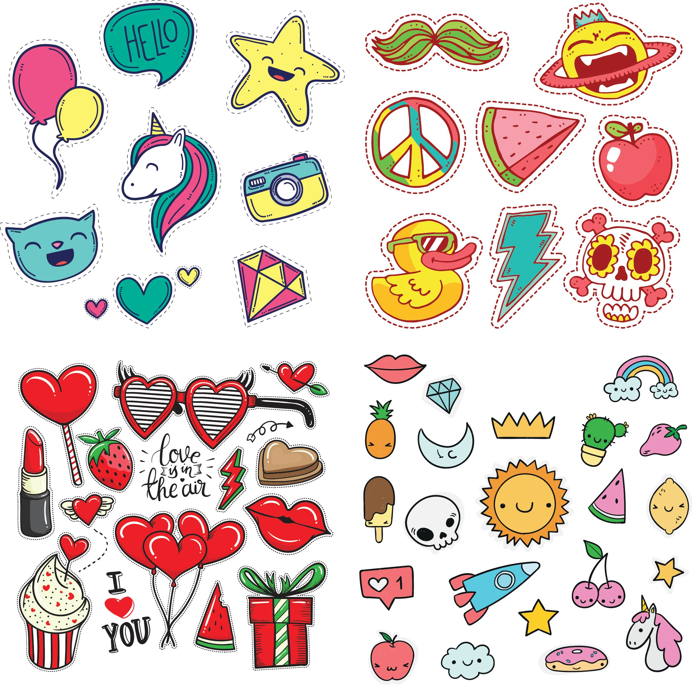 I will design cute stickers for you