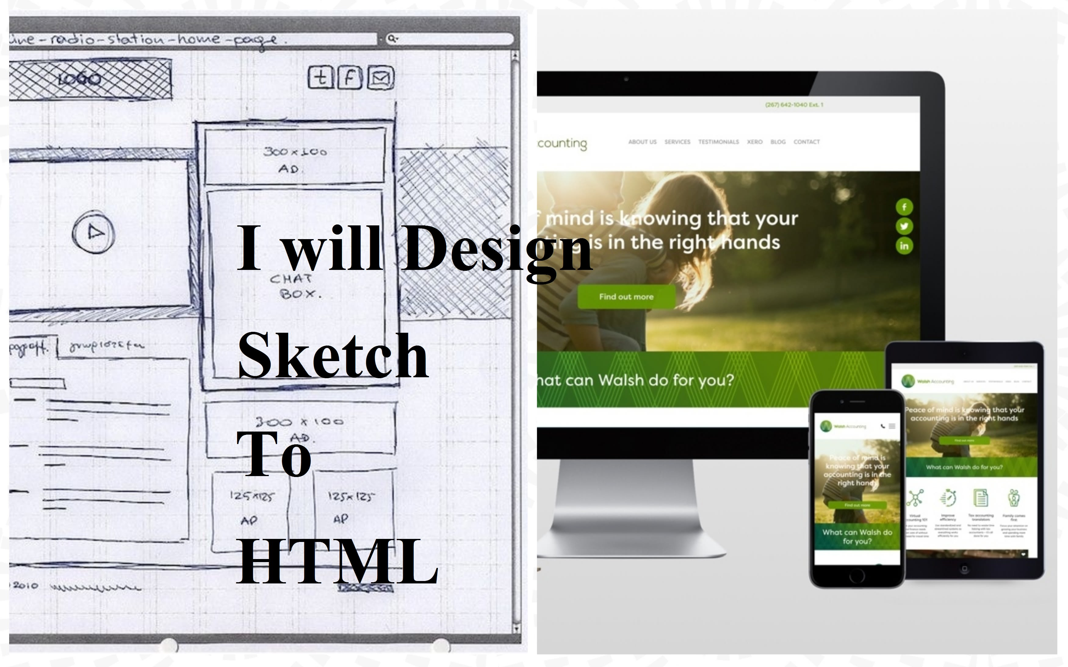 sketch to responsive HTML