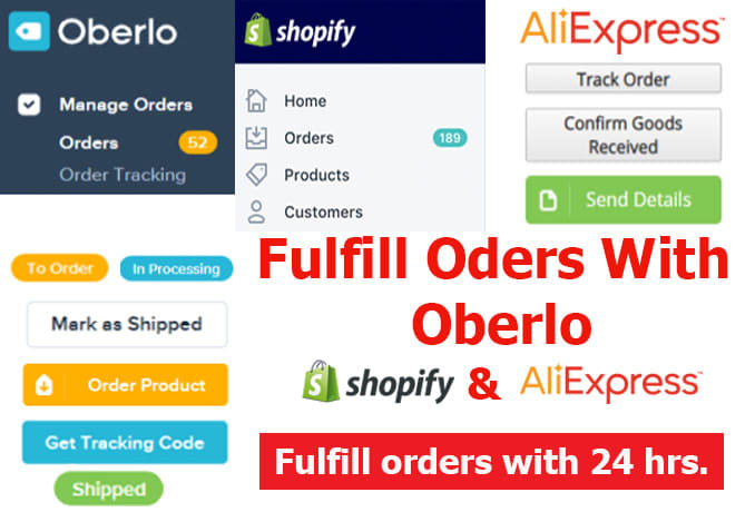 fullfill 500 orders in 24hrs by using oberlo or dropified