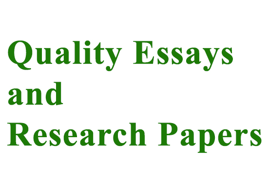 write quality essays and term papers