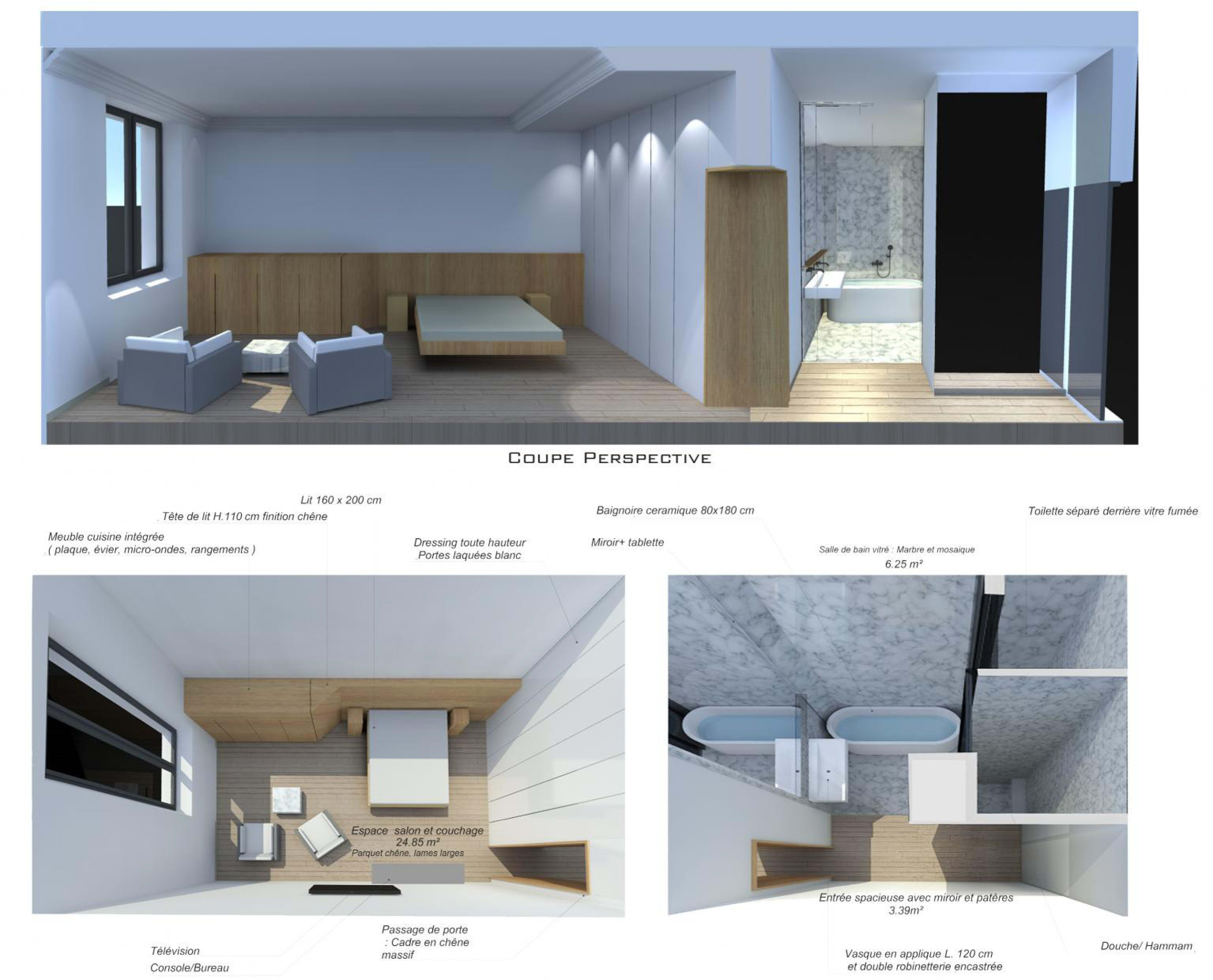 Micro Onde En Hauteur architecture design drawing and conception of plans