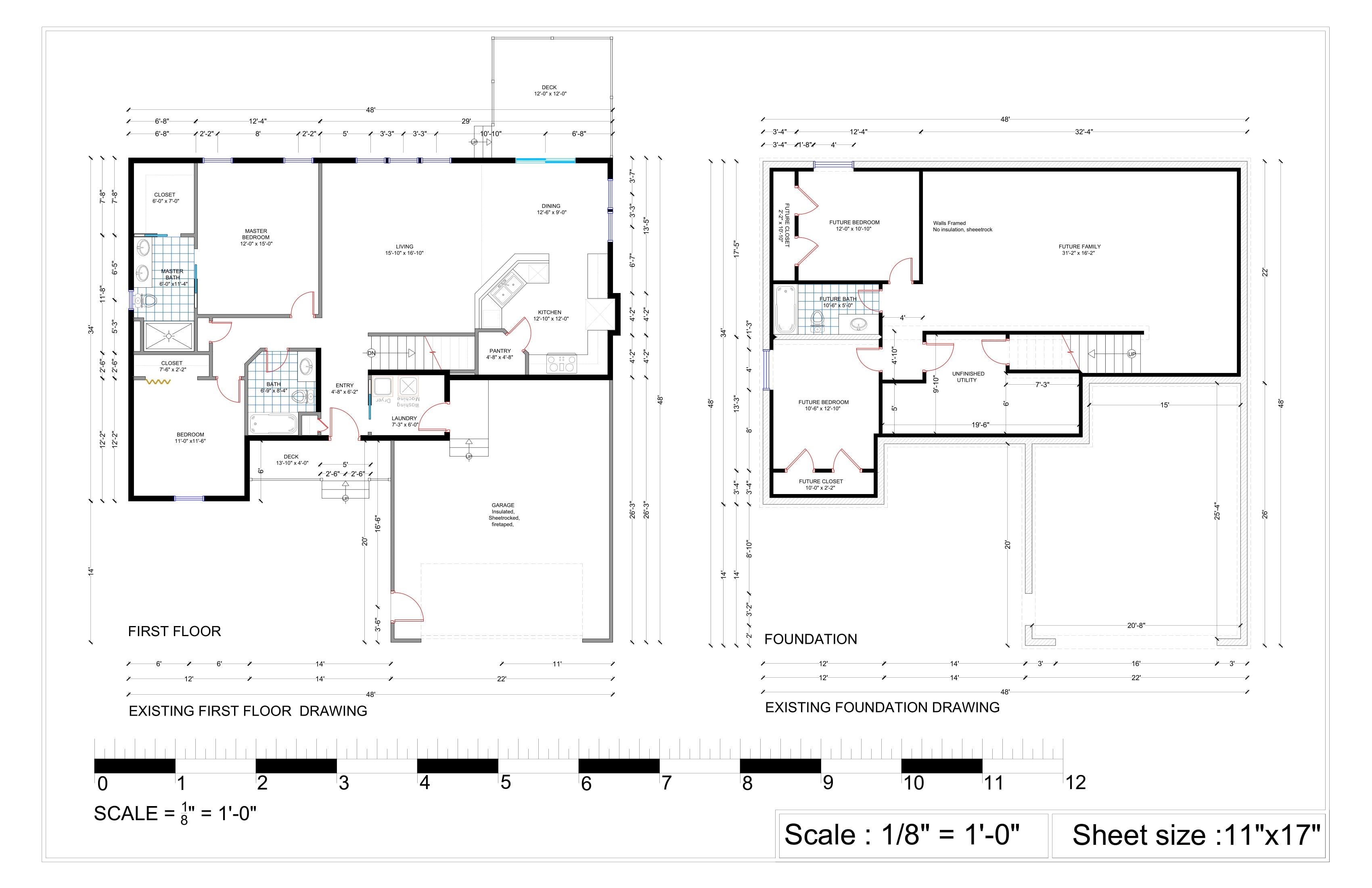 Draw autocad drawings or floor plans in