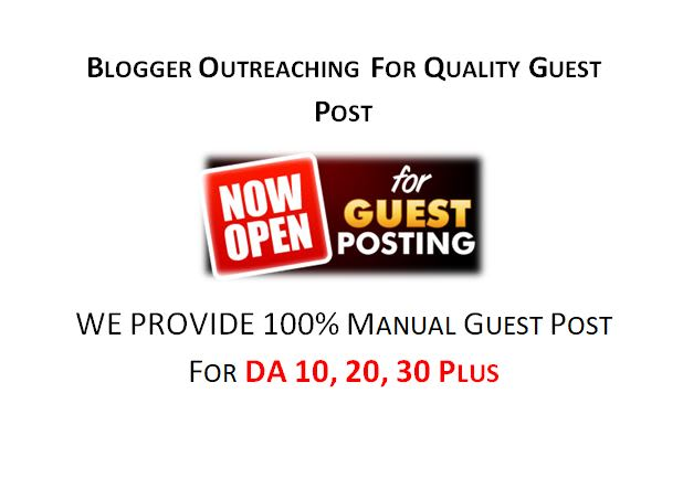 do niche related blogger outreaching for quality guest post