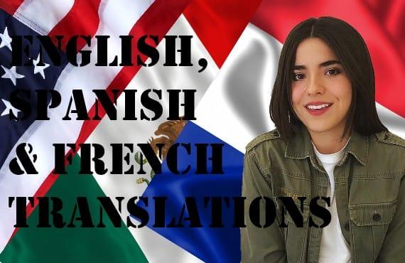 Translate English Spanish And French By Heyitsgina