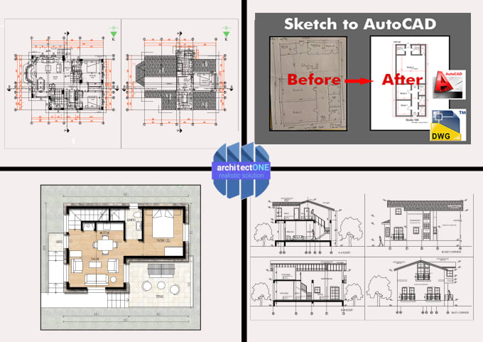 Design And Draw Floor Plan Elevations Roof Plan And Sections By Architectone Fiverr