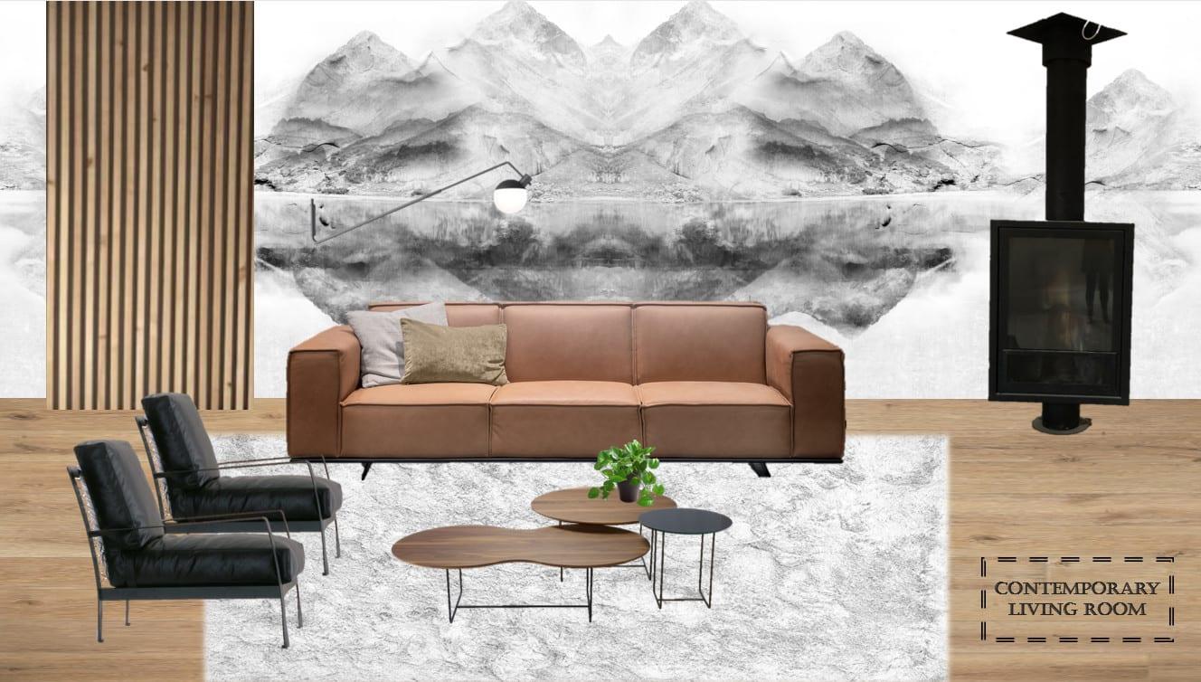 interior design concept mood board layout