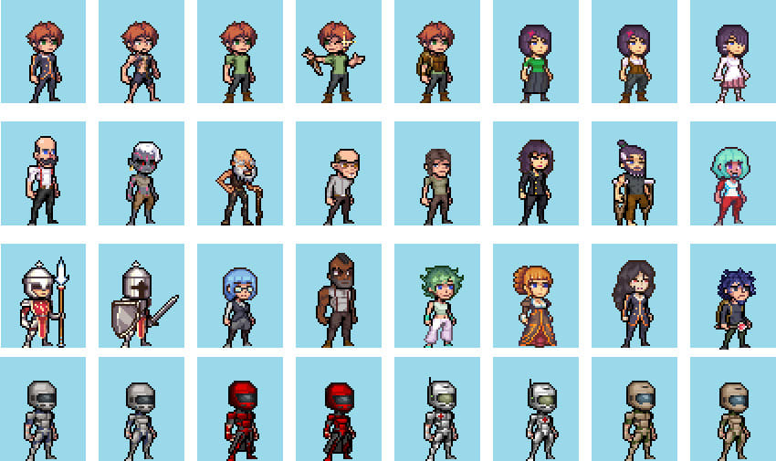 Make Pixel Art Character And Monsters For You By Ninlay