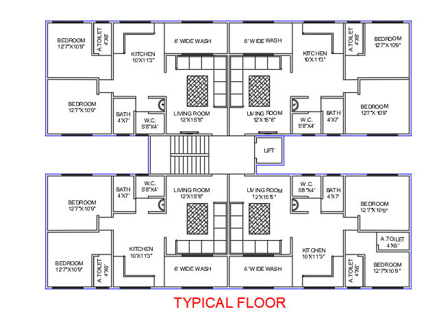 floor plans for residential apartments