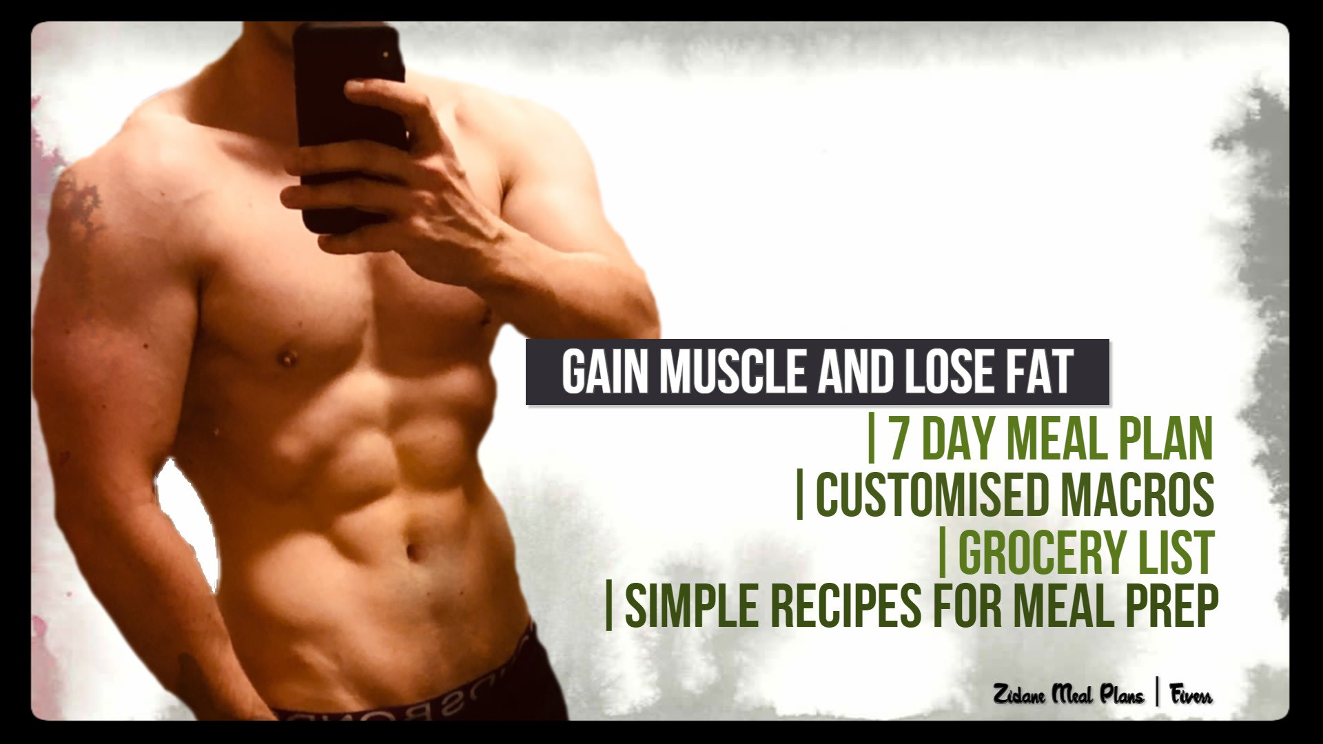 Create A Customised Meal Plan To Lose Fat And Gain Muscle By Zidane1