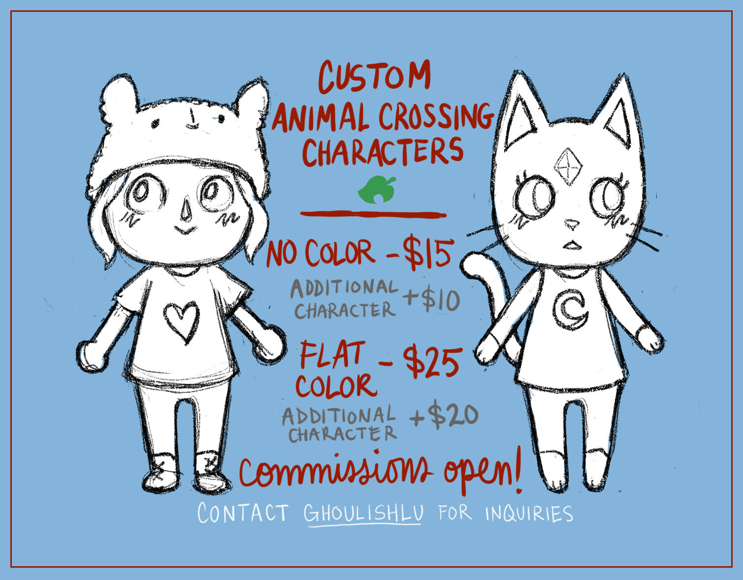 Draw An Animal Crossing Version Of You Or Your Pet By Ghoulishlu