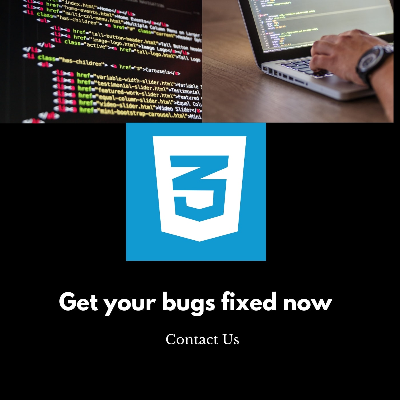 fix and remove html css bootstrap bugs and errors for you