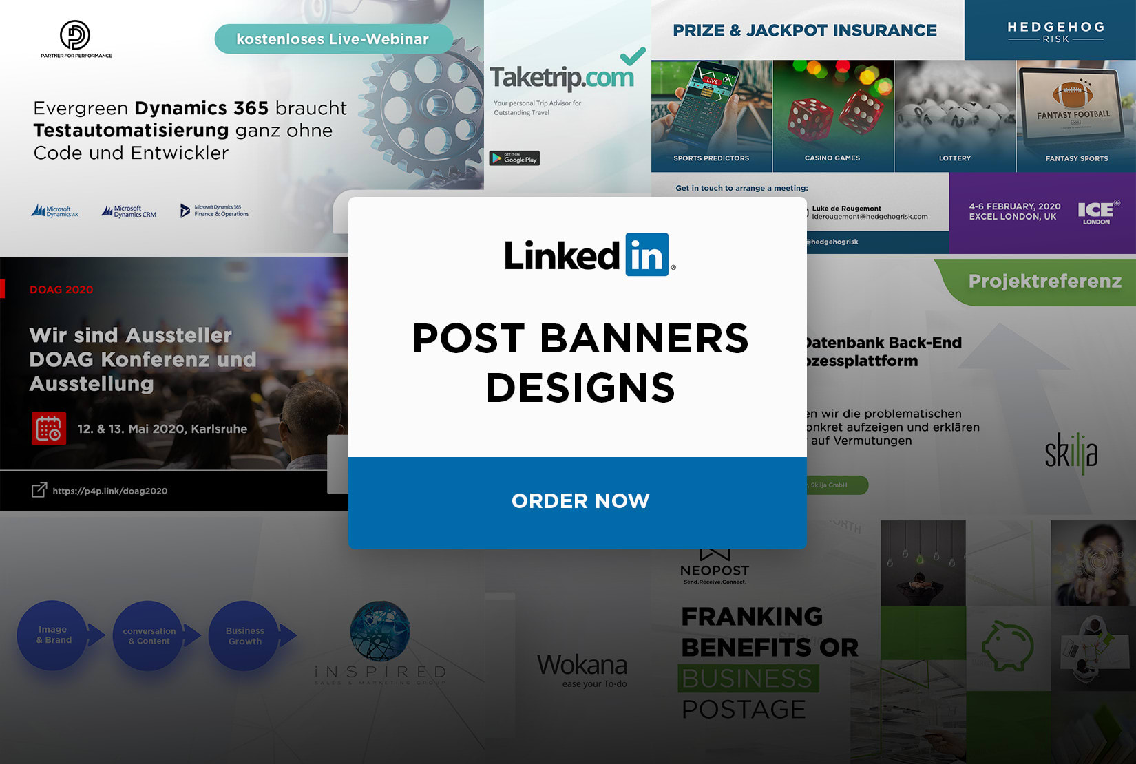 Design Linkedin Banner Post Background By Maddyartsinc