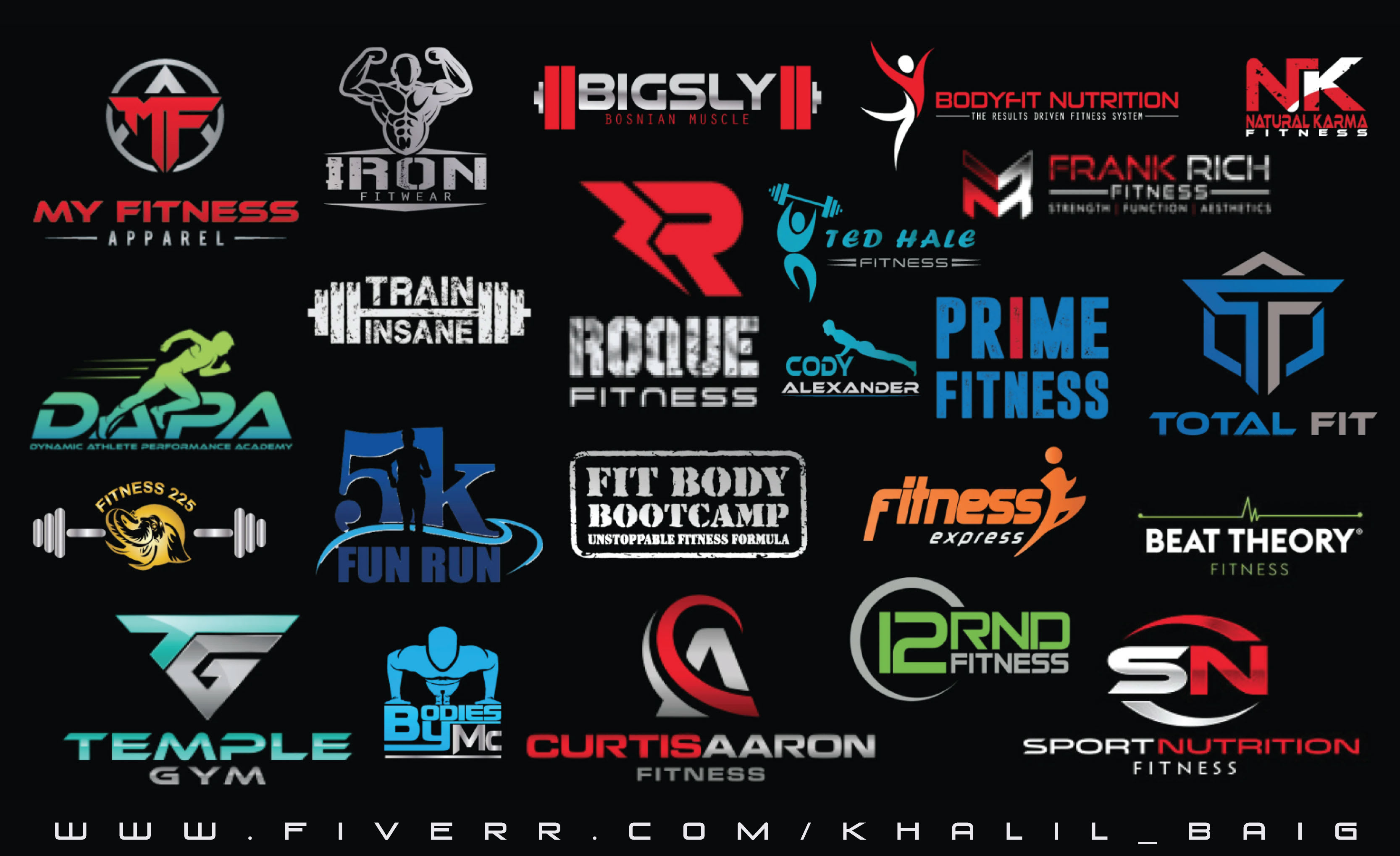 Design Eye Catching Fitness Gym And Sports Logo By Khalil Baig
