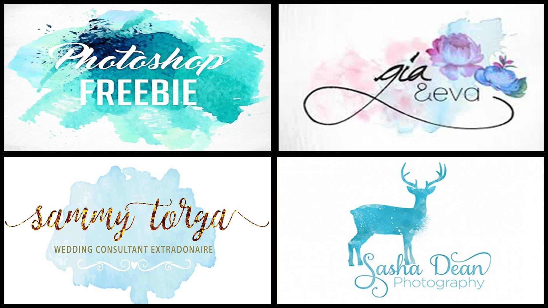Do elegant and feminine watercolor logo design by Loogojoy