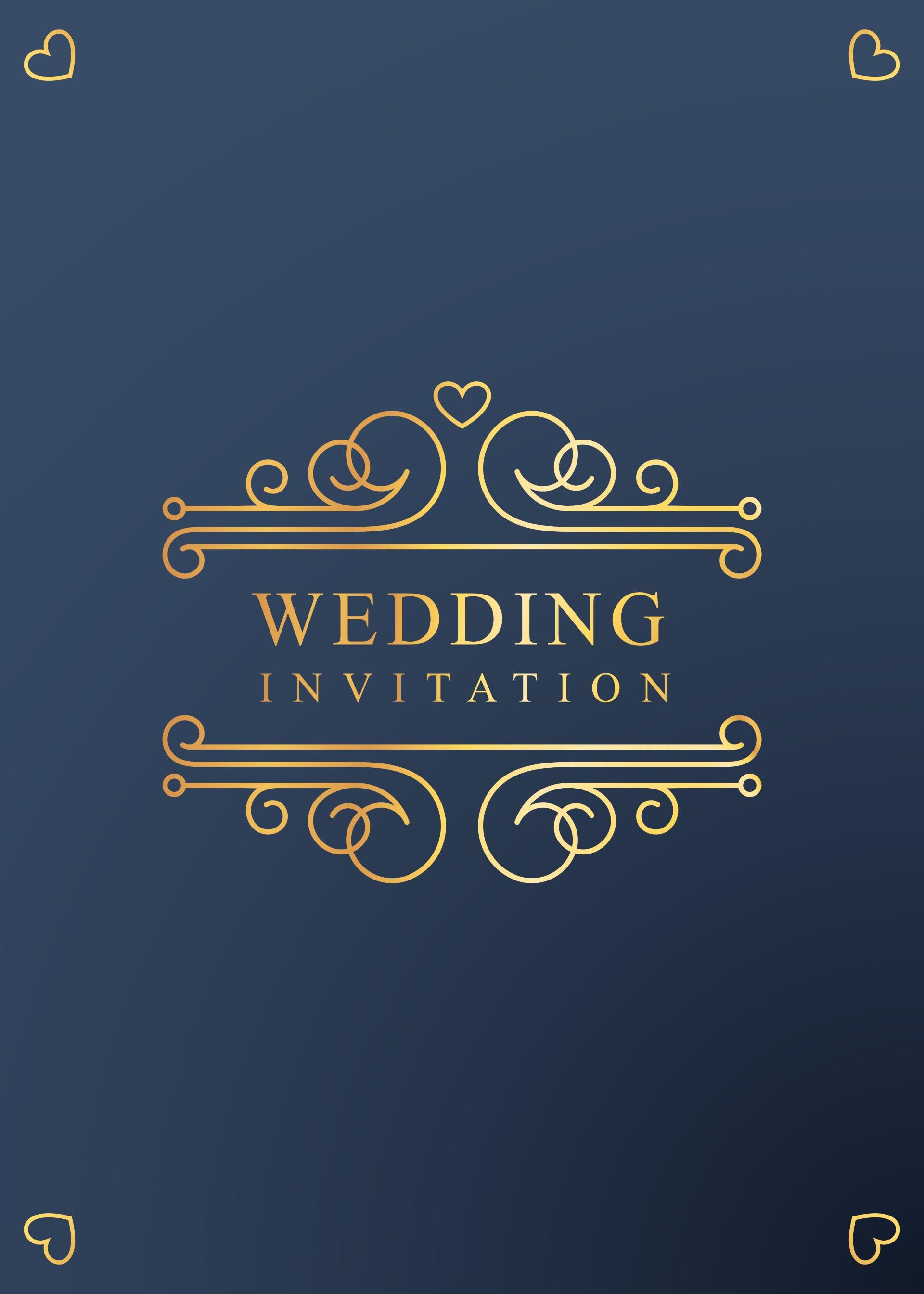 Create simple digital wedding invitation card design by Tamcik27