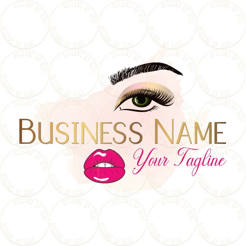 create 2 beautiful eye lashes logo