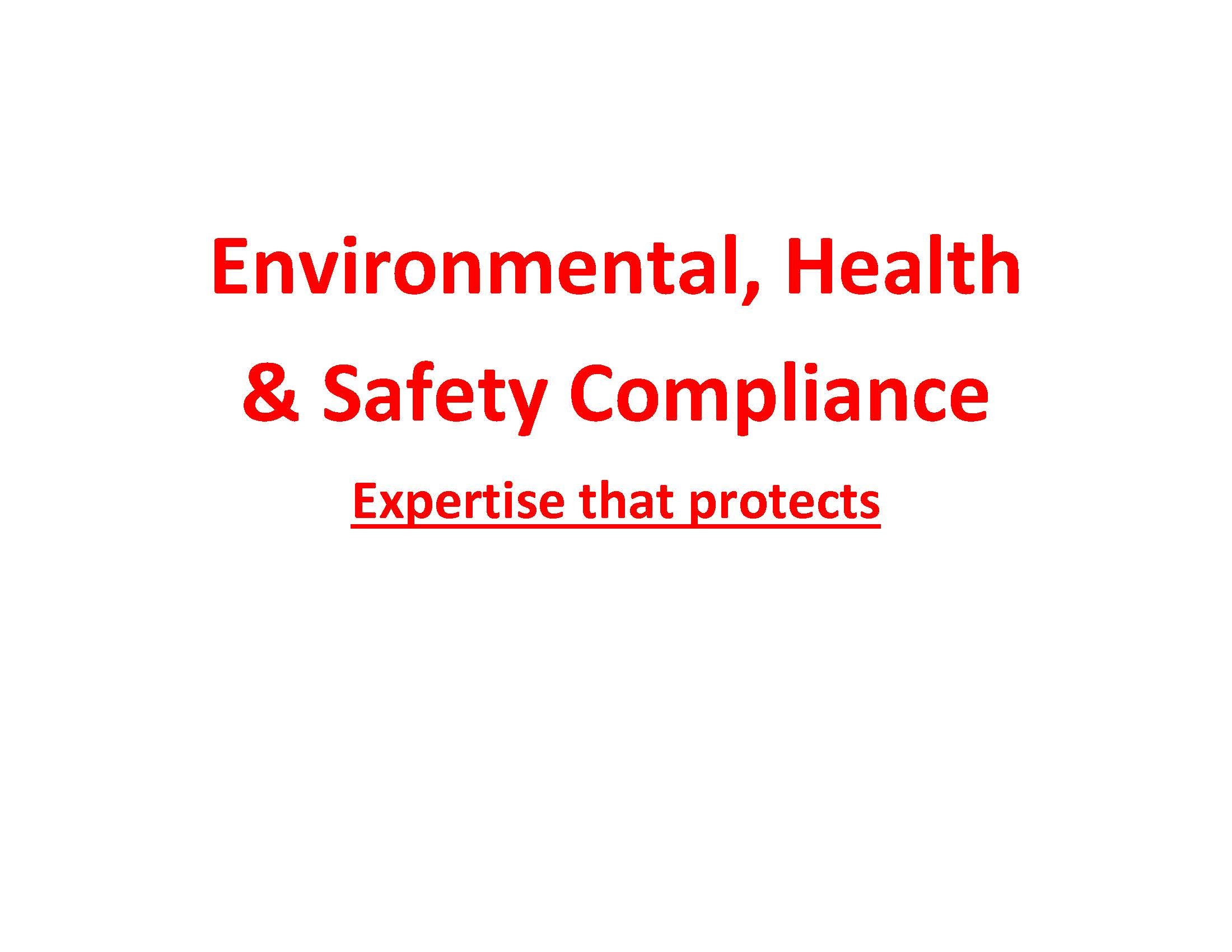 create an environmental, health or safety training presentation or policy