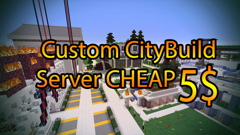 Set up your professional minecraft citybuild server by
