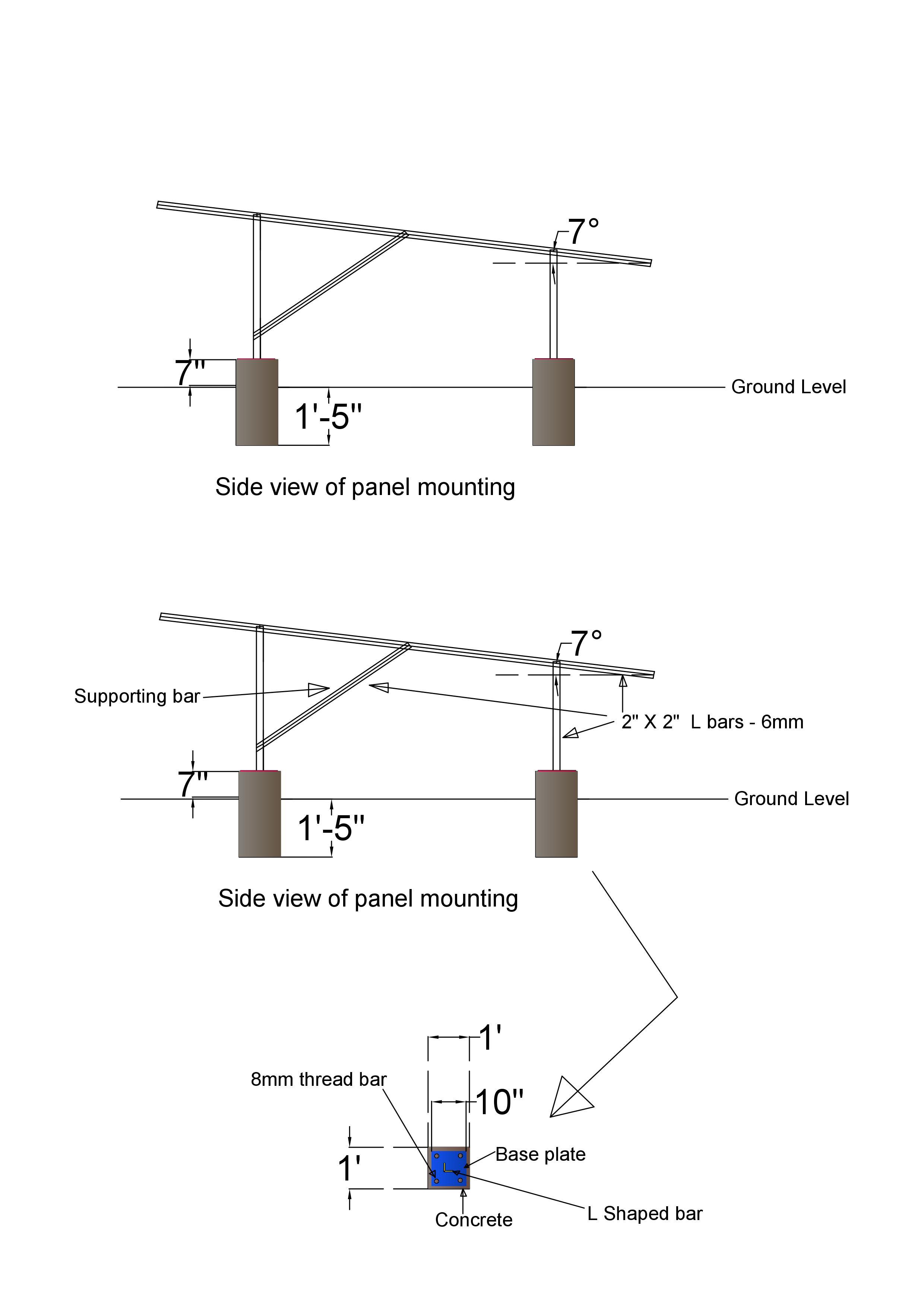 Design Solar Panel Mounting Structures By Madushadedigamu