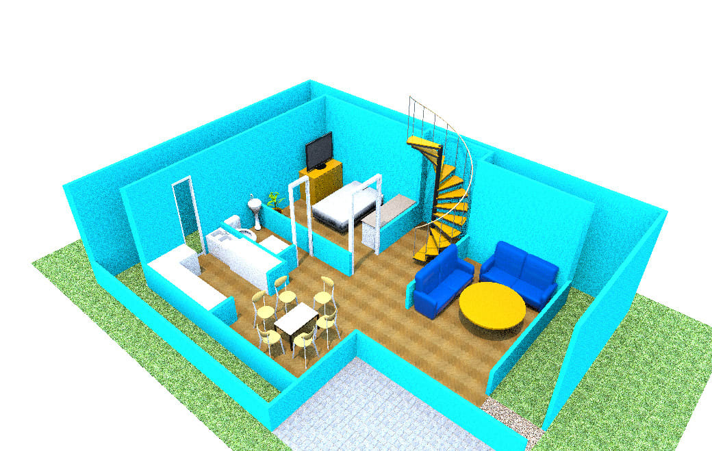 Create 3d Floor Plan From Your House Map In 15 Hrs