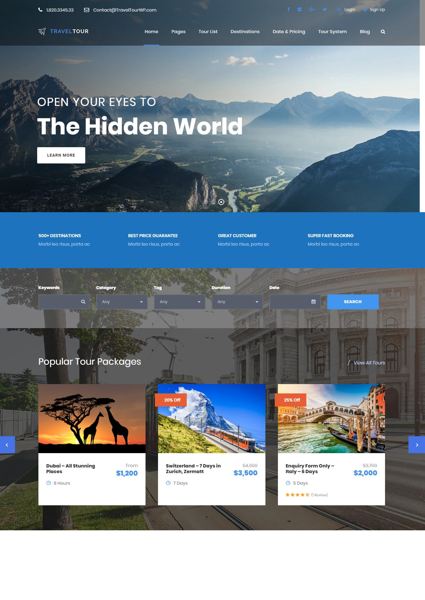 Create Travel Tourism Booking Website By Fayxanadil1
