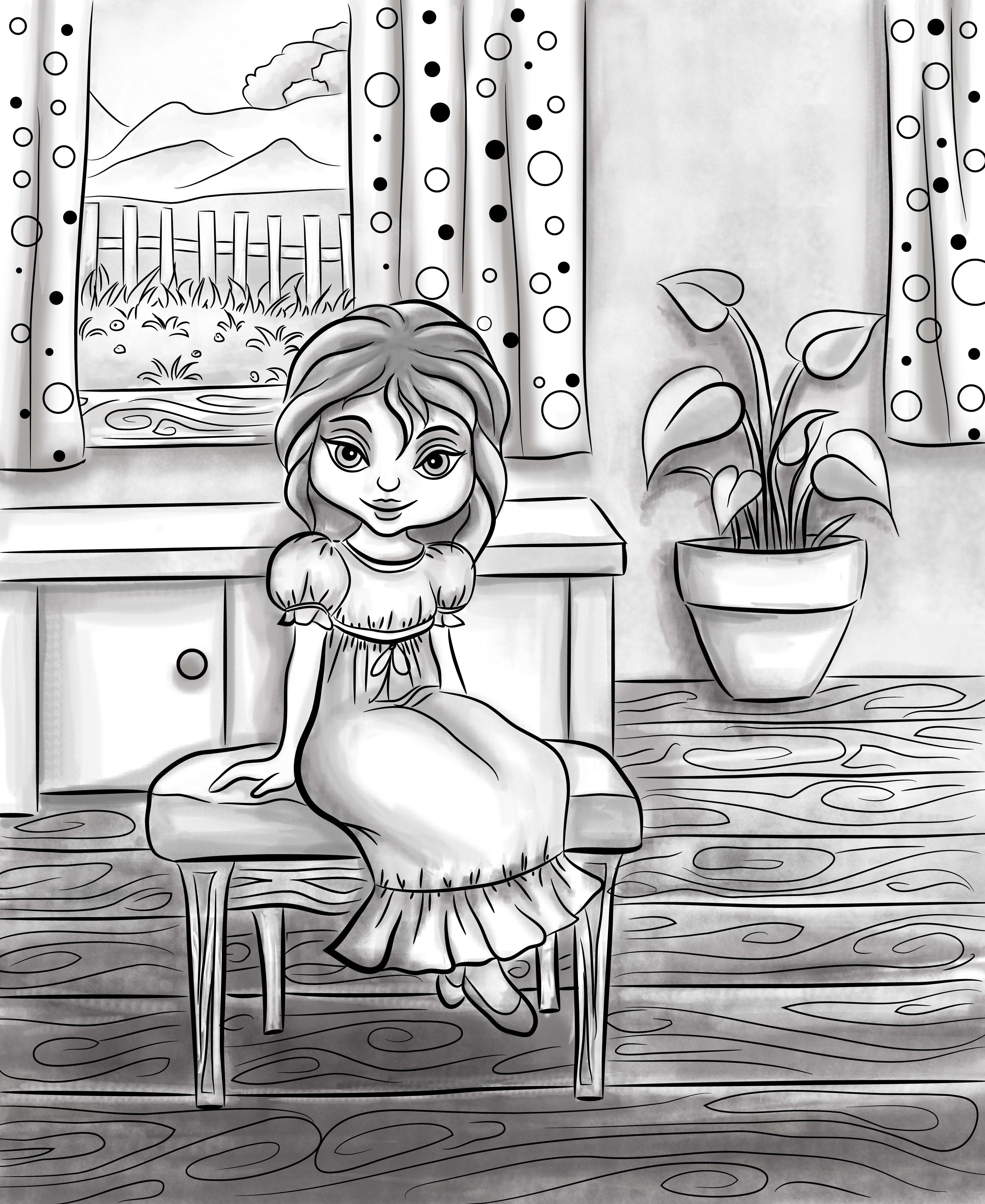 I will do illustrations for children book
