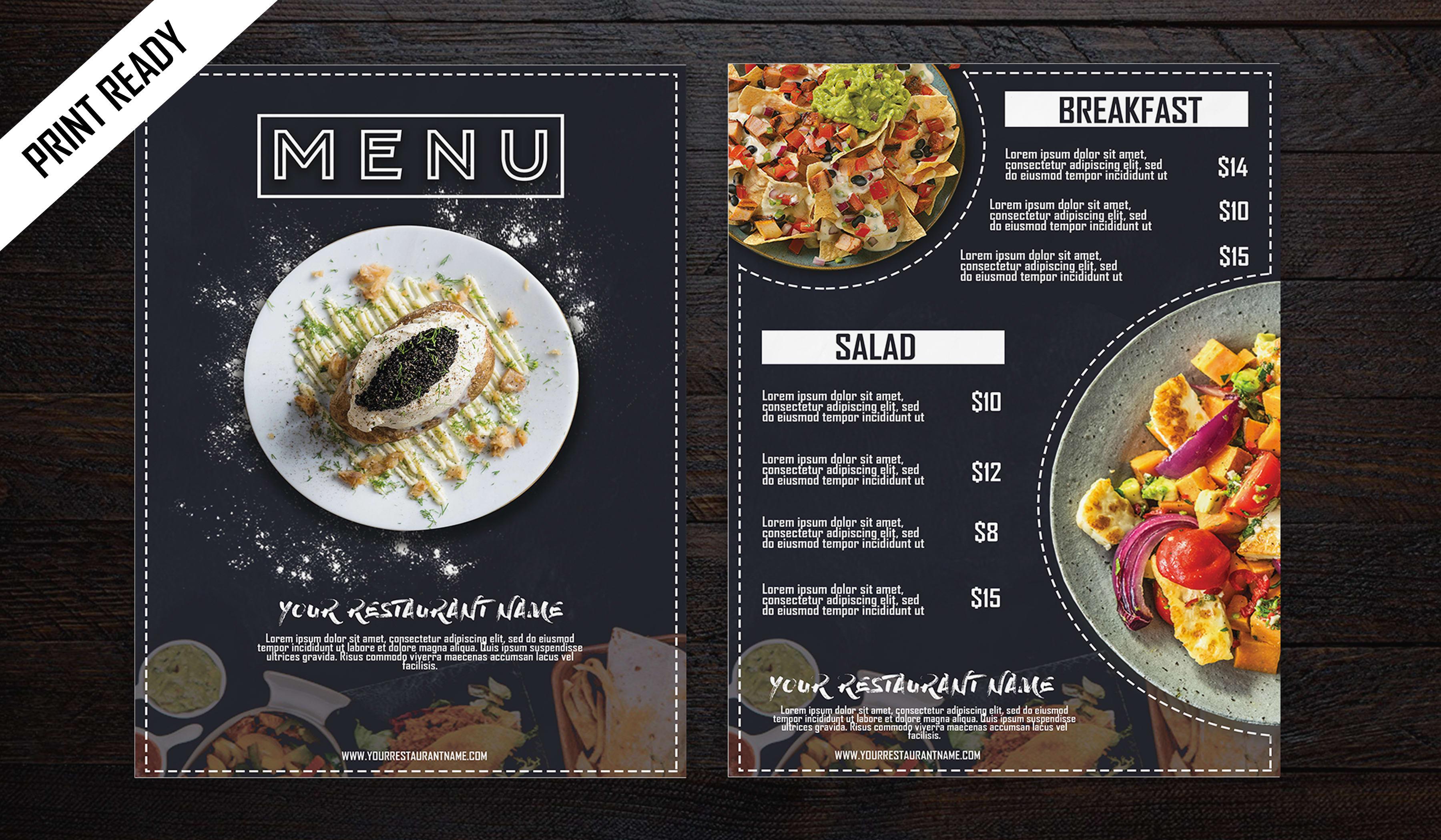 Create A Professional Restaurant Menu Design By Graphixerlk