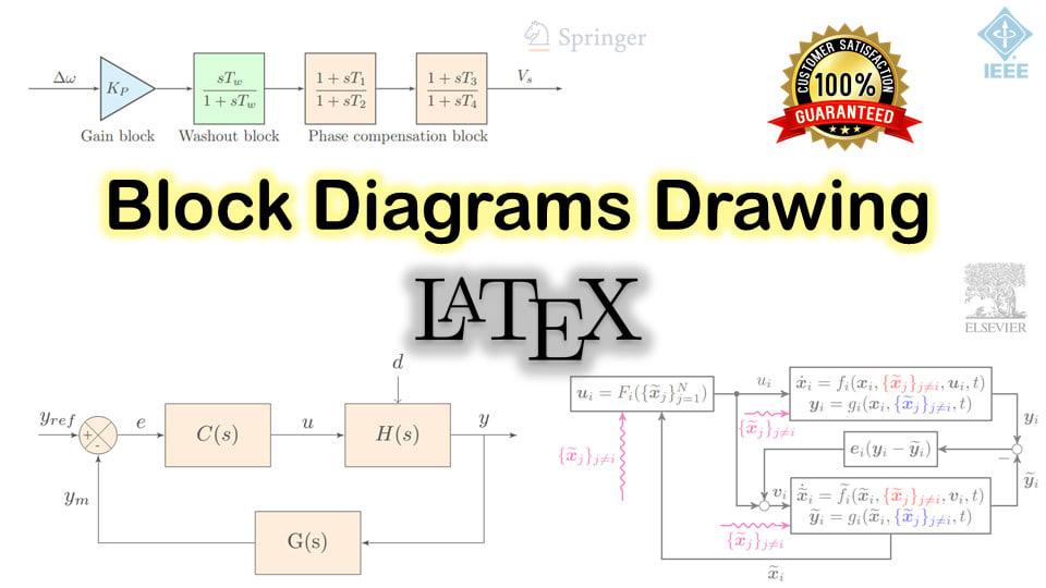 Draw your block diagrams in latex tikz by MsdezignerFiverr