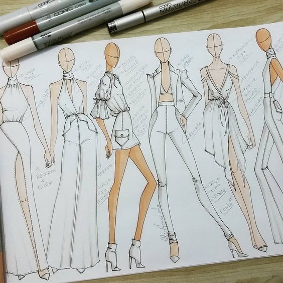 livadesigns : I will design a unique sketch of your clothing ideas for $10  on www.fiverr.com