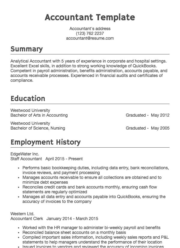 Resumes Of Top Quality Detail Oriented