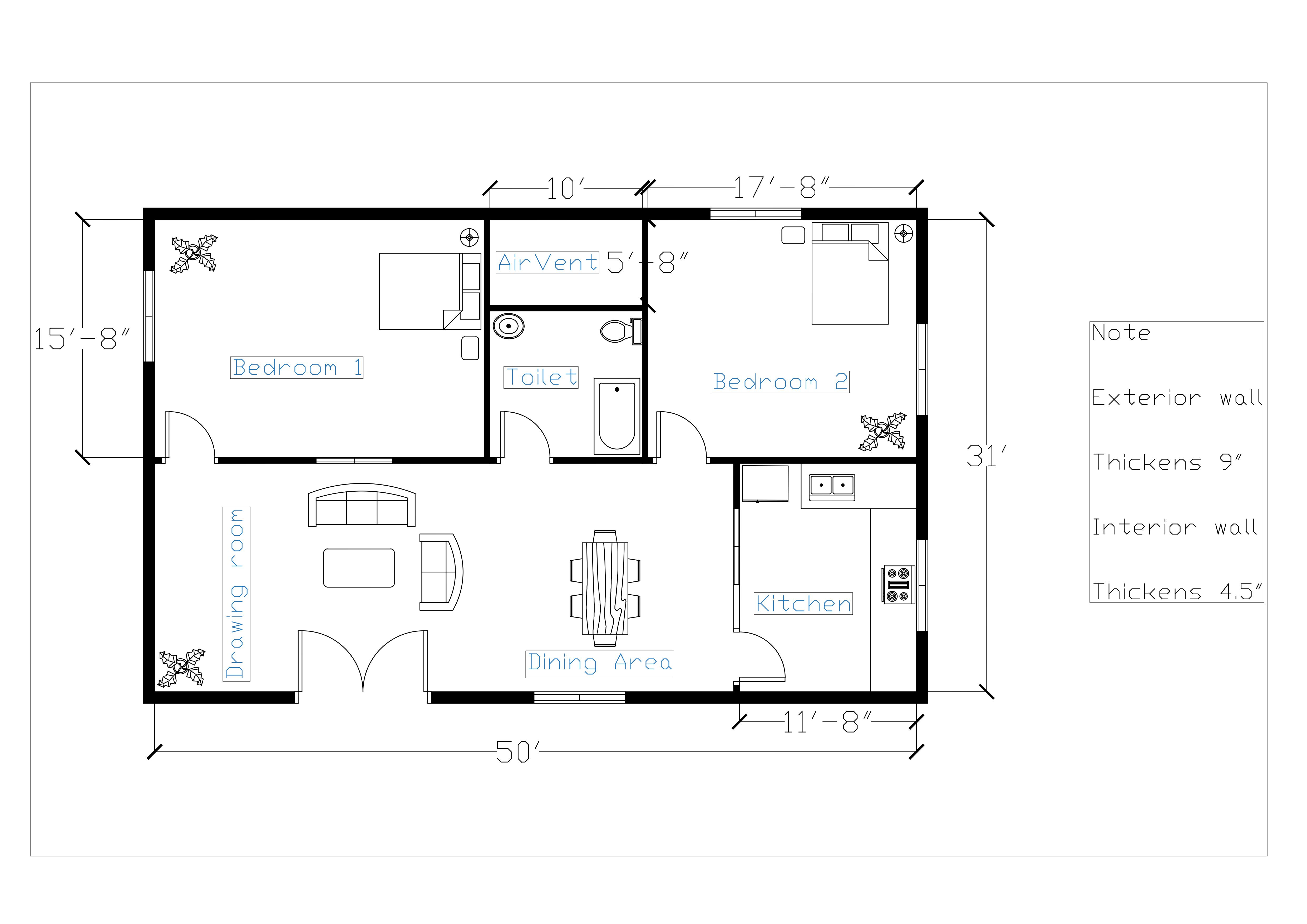 floor plan sketch to autocad dwg