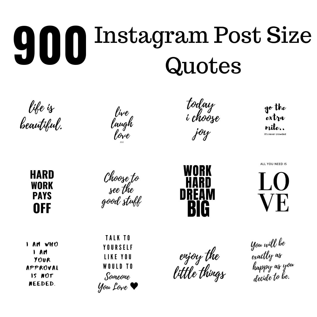 Create 900 Jpg Instagram Post Size Quotes By Graphichouse01