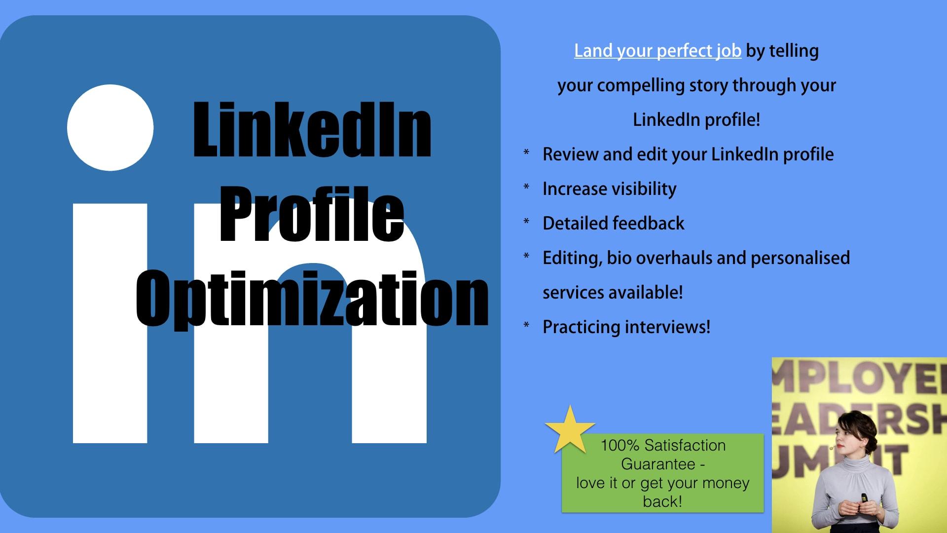 Prepare your linkedin profile to find