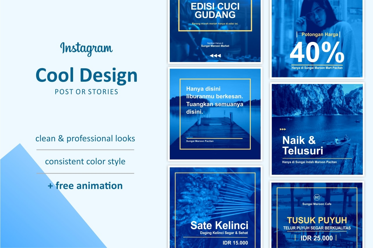 Make Cool Design For Your Instagram Post Or Stories By Hudaxxx
