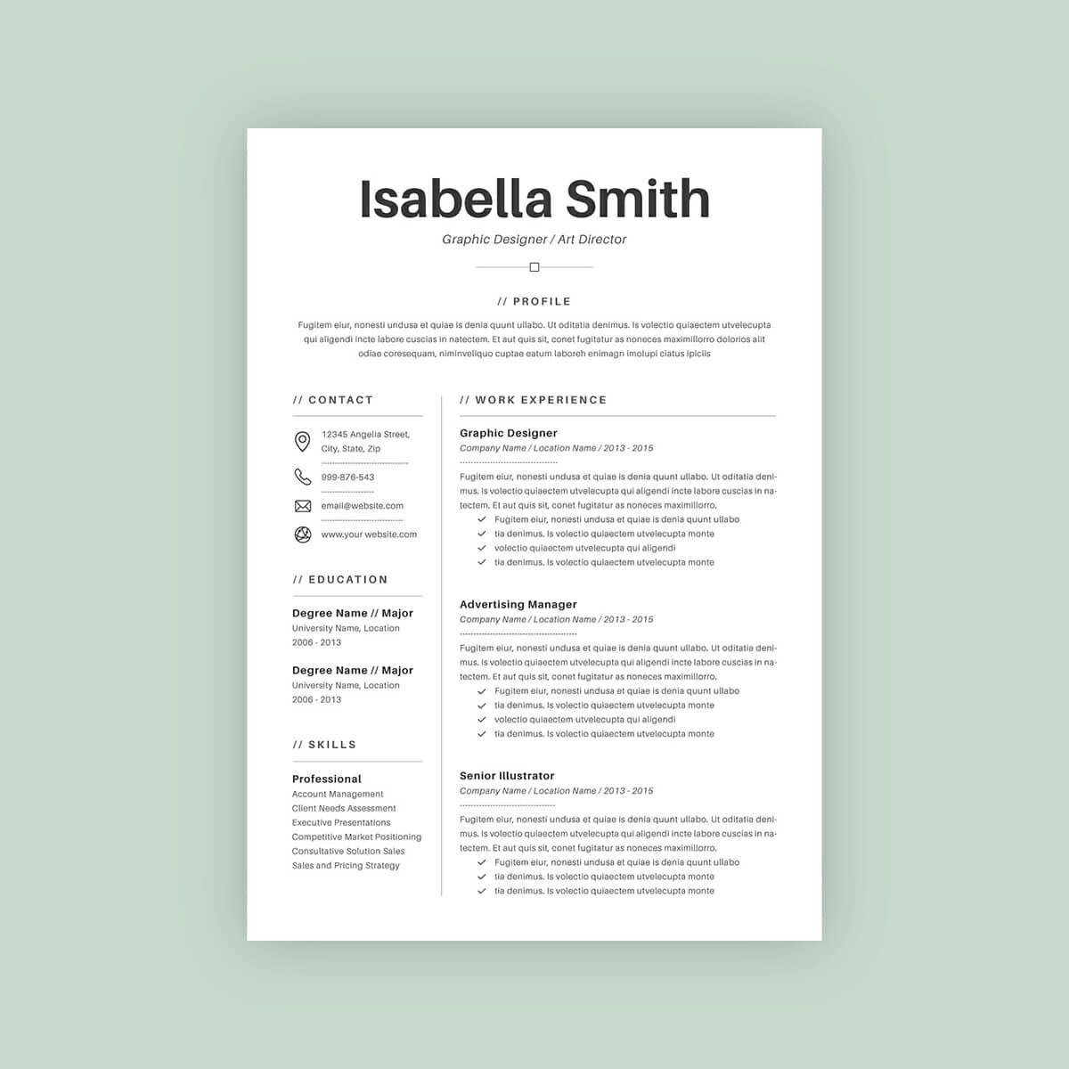 Eye catching resumes for cheap by Rosewtr40   Fiverr