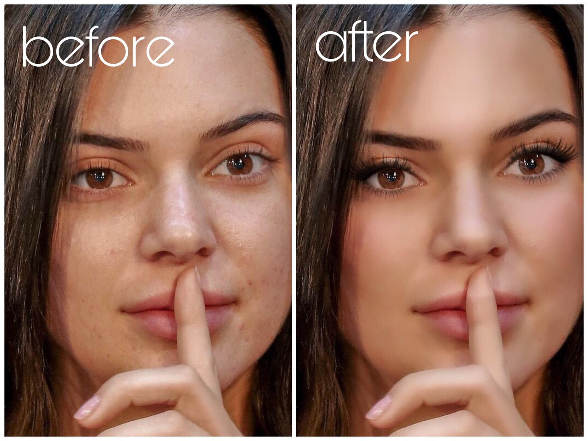Add Makeup To Your Face In The Photo By