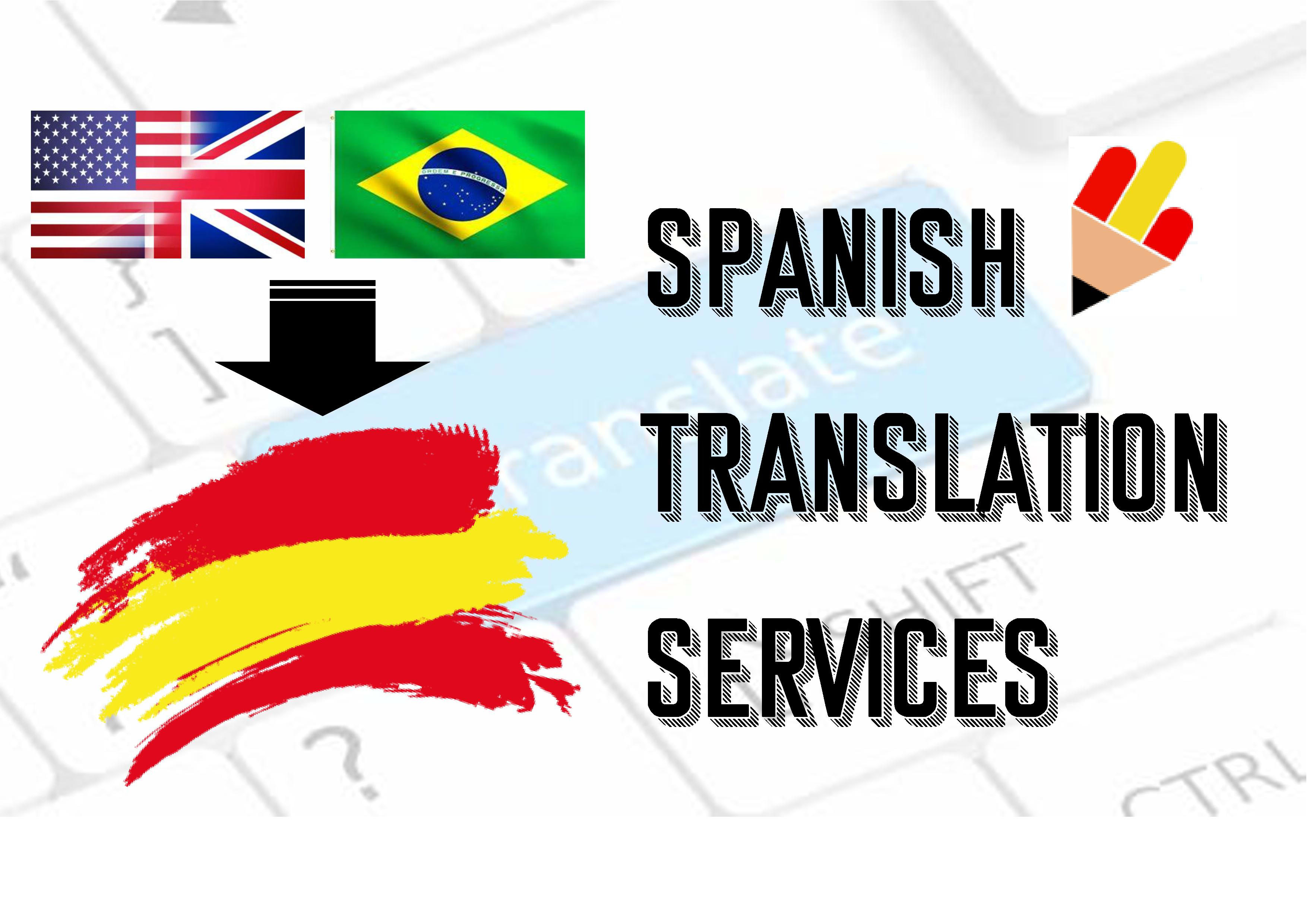 Professionally translate english and portuguese to spanish by Martaheras91