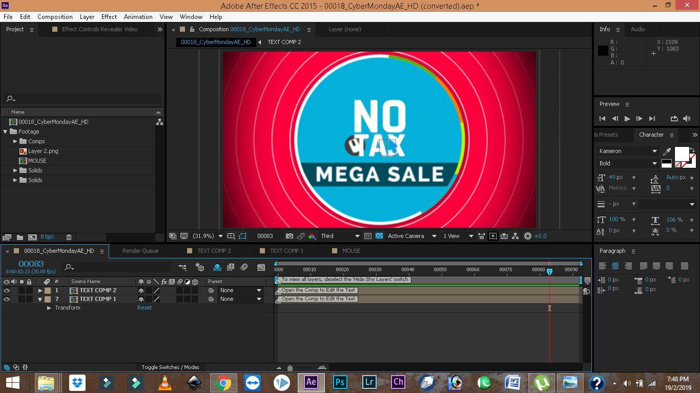 free adobe after effects template full hd 1080p logo animation
