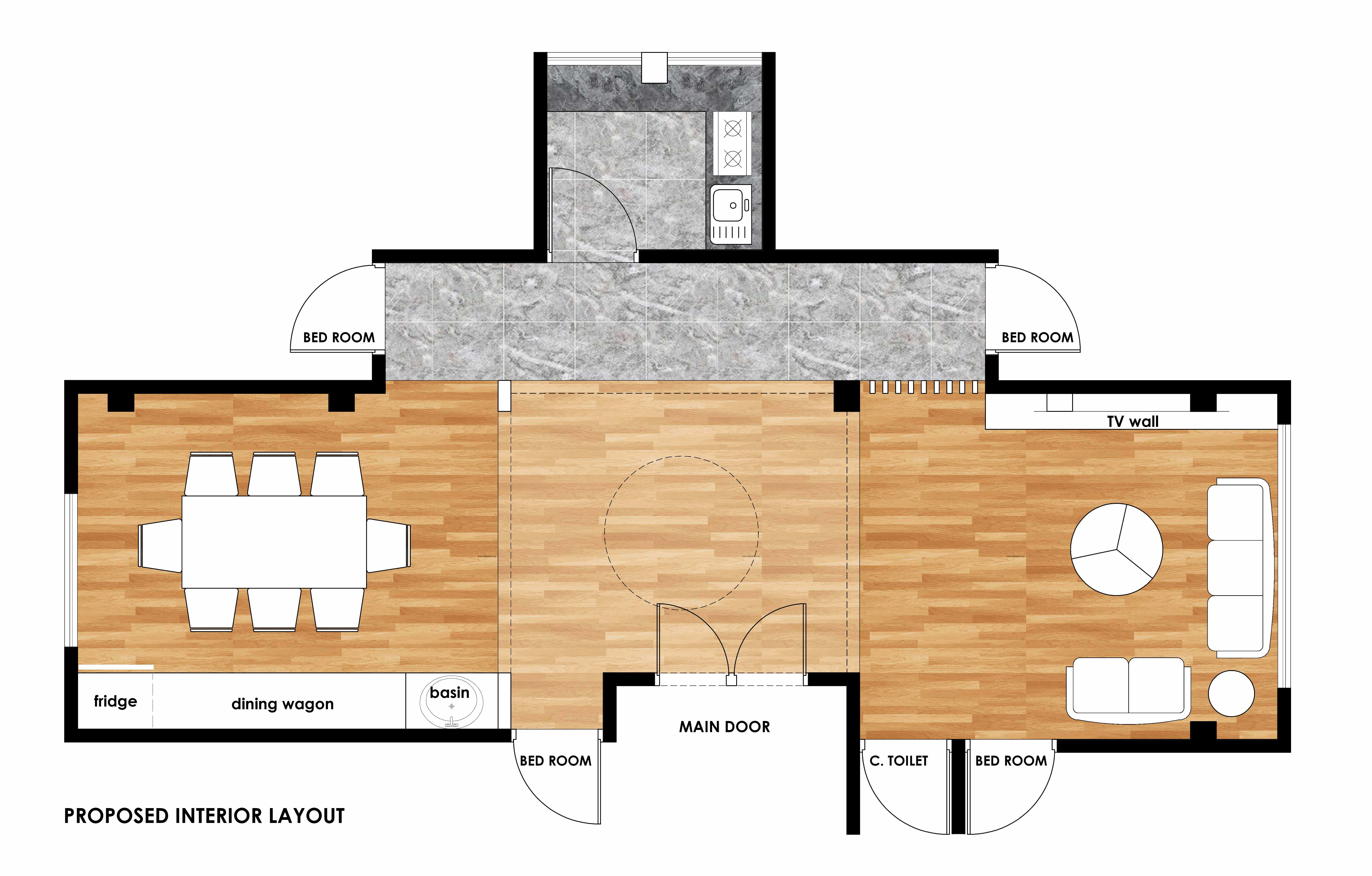Render Floor Plan In Autocad Then Photoshop Or Corel Draw By Arslan Germany Fiverr