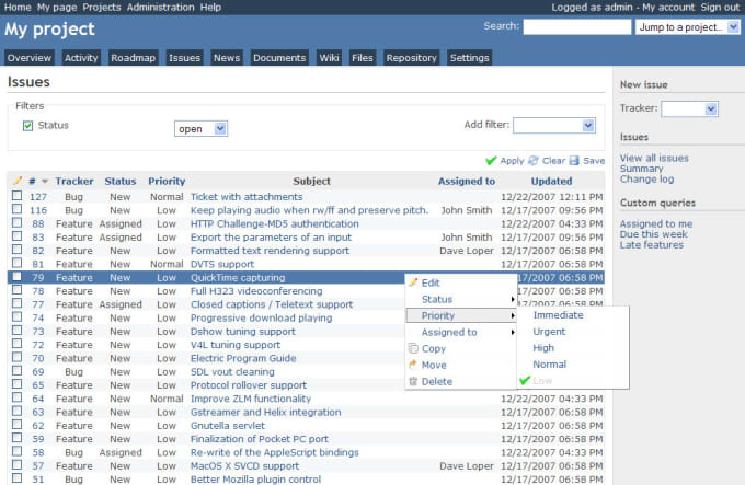 Provide Redmine Project Management Software Like Jira By It Subhash