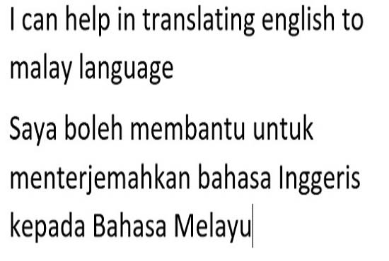 Help To Translate From English To Malay Language By Syazwaniazahar