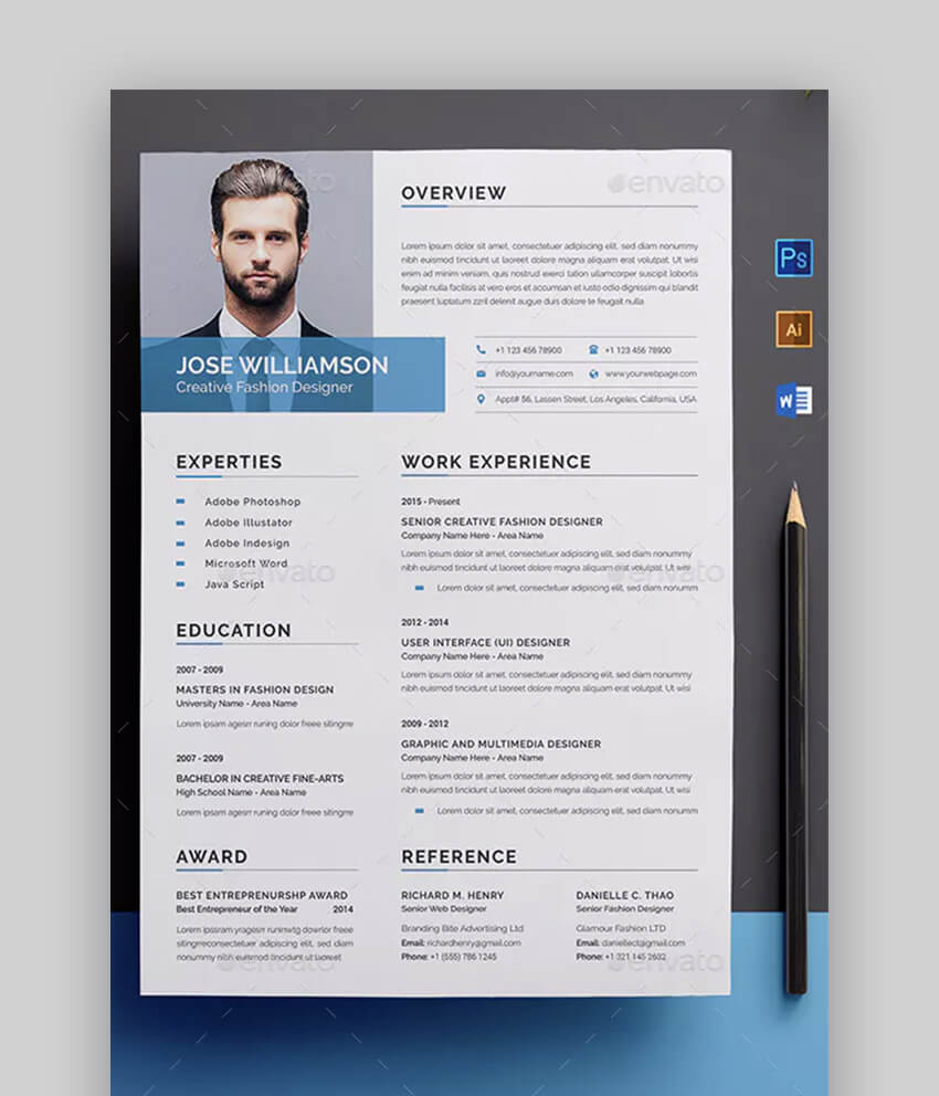Design A Resume For Your Job And Intern By Adnansolangi